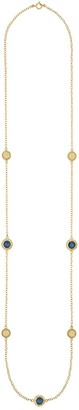 Anna Beck 18K Yellow Gold Plated Sterling Silver Blue Quartz Station Necklace