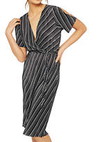 Miss Selfridge Plisse Wrap Cold Shoulder Dress, Multi