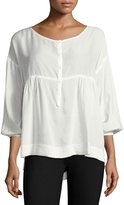 Max Studio Solid Shirting Blouse, Off White