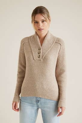 Seed Heritage Button Detail Sweater