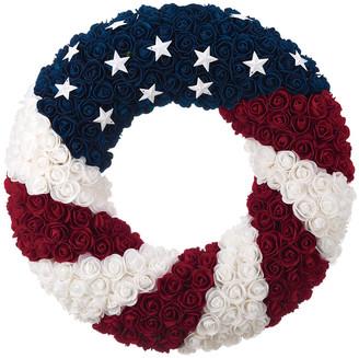 Transpac Foam Multicolor 4Th Of July Patriotic Wreath