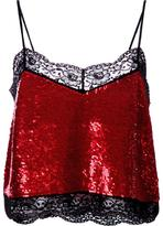 Ashish sequinned lace camisole top