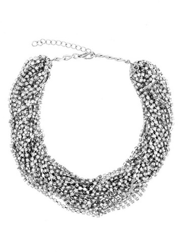 Cara Accessories Chain and Crystal Necklace