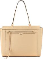 Rebecca Minkoff Monroe Saffiano Tote Bag, Medium Beige