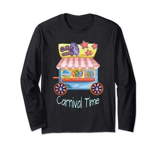 Deeper Deal Cotton Candy Carnival Time Fairy Floss Cotton Candy and Sugar Floss Long Sleeve T-Shirt