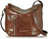 The Bridge Passpartout Donna Marrone Leather Shoulder Bag