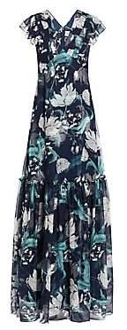 Erdem Women's Franceline Floral Silk Gown