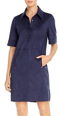 Elie Tahari Zahra Faux Suede Shirt Dress