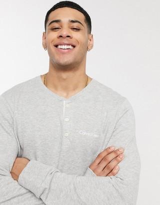 Calvin Klein henley long sleeve lounge top