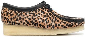 Clarks Wallabee leopard-print shoes