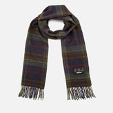 Barbour Men's Brignall Lambswool Scarf Olive/Brown