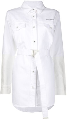 Off-White Two-Toned Belted Shirt