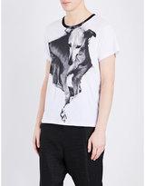 Ann Demeulemeester Dog-print Cotton-jersey T-shirt