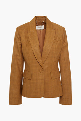 Zimmermann Zippy Checked Wool-crepe Blazer