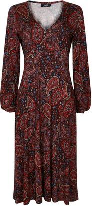 Wallis Black Paisley Print Midi Dress
