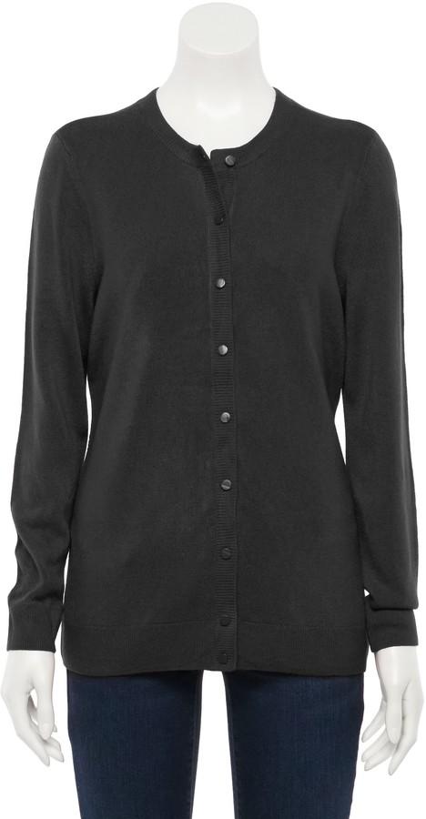 Petite Essential Button Front Cardigan