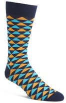 Lorenzo Uomo Men's Triangles Crew Socks