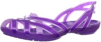 Crocs Huarache Slingback Girls' Sandals Iris/Neon Purple 5 UK