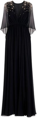 Givenchy Black Embellished Evening Gown
