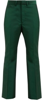Toga Yester Wool-blend Twill Trousers - Green