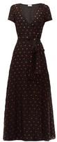 RED Valentino Heart-print Chiffon Dress - Womens - Black Multi