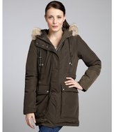 Andrew Marc New York olive fur trimmed 'Andy' hooded down coat