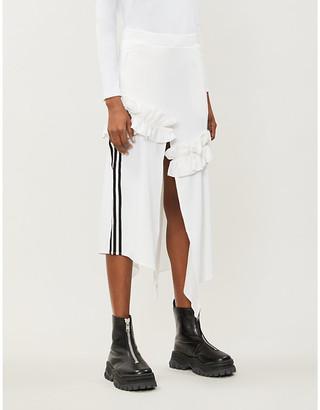Adidas X J Koo Ruffled cotton-blend skirt