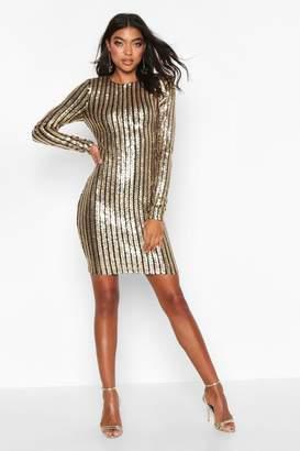 boohoo Tall All Over Sequin Mini Dress