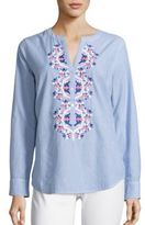 Vineyard Vines Neon Embroidered Tunic