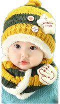 JOYHY Unisex Baby Cute Beanie + Scarf Two Piece Set Star Kids Knitted Hats