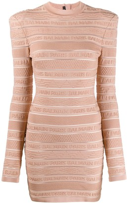 Balmain Knitted Logo Dress