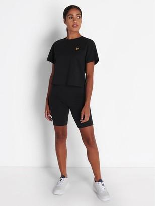 Lyle & Scott Crop T-Shirt - Black