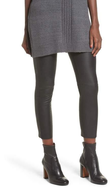 f1f02b459ed67 High Rise Leather Leggings - ShopStyle