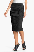 Olivia Moon Ruched Midi Skirt (Online Only)