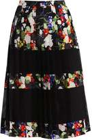 Banana Republic MINDY FLORAL Pleated skirt black/multi