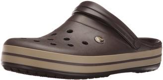 Crocs unisex-adult Crocband Clog | Comfortable Slip On Casual Water Shoe Espresso/Khaki Men's 9 Women's 11 Medium