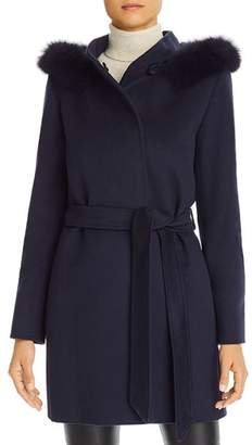 Cinzia Rocca Icons Fur-Trim Wool & Cashmere Coat