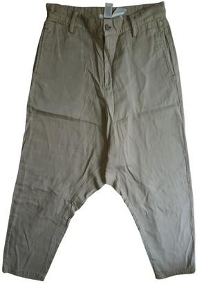 Limi Feu Beige Cotton Trousers