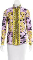 Versace Abstract Print Silk Top