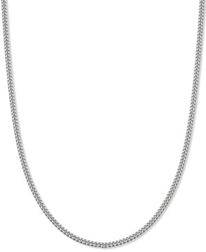 "Giani Bernini Curb Link 20"" Chain Necklace in Sterling Silver, Created for Macy's"