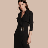 Burberry Floor-length Satin-back Crepe Trench Dress
