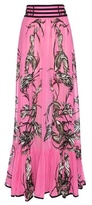 Roberto Cavalli Printed Silk Skirt