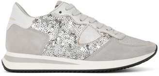 Philippe Model Paris sequin-embellished logo trainers