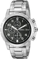 Fossil Men's Stainless Steel Bracelet Analog Dial Chronograph Watch Black FS4542