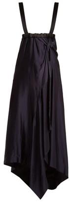 Colville - Asymmetric-hem Dress - Womens - Black Blue
