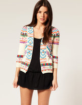 Embroidered Beach Cover Up Cardigan
