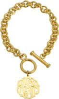 The Well Appointed House Gold Toggle Bracelet with Cutout Monogram Charm