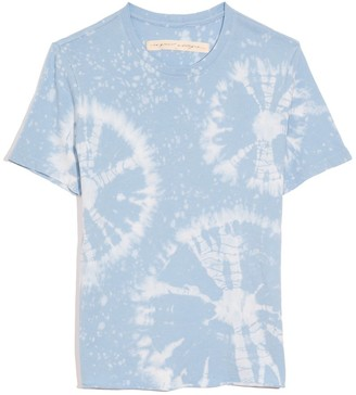 Raquel Allegra Boy Tee in Blue Constellation Tie Dye