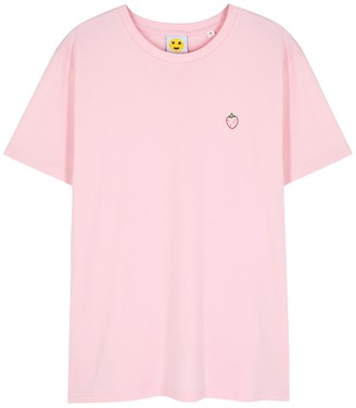 YEAH RIGHT NYC Strawberry Pink Cotton T-shirt