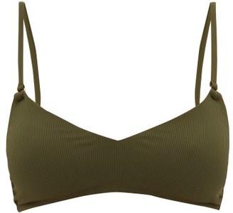 Melissa Odabash Vienna Ribbed Padded Bikini Top - Dark Green